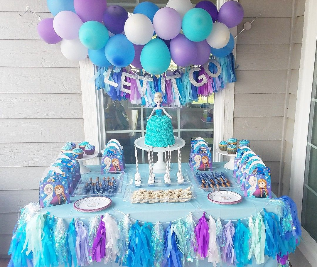 Diy party decor, DIY elsa party, frozen party, frozen theme