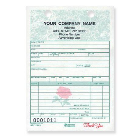 GSF-214, Florist Sales Register Forms Pinterest Florists