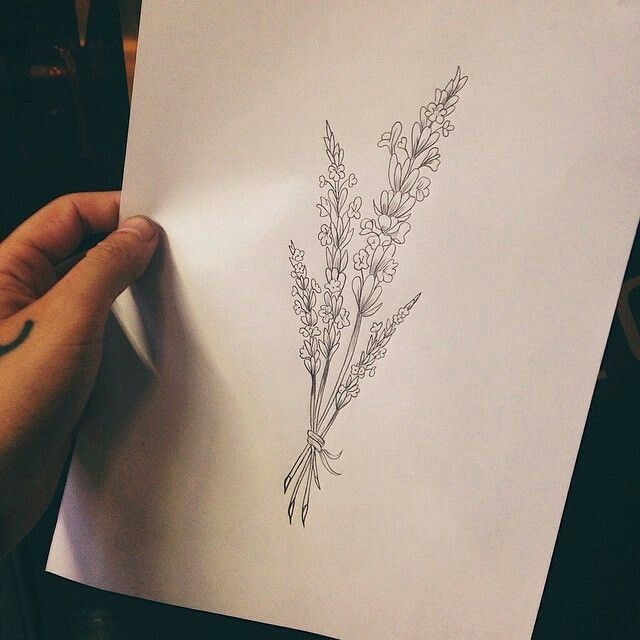 Simple Lavender Sketch Lavender Tattoo Tattoos For Daughters Inspirational Tattoos