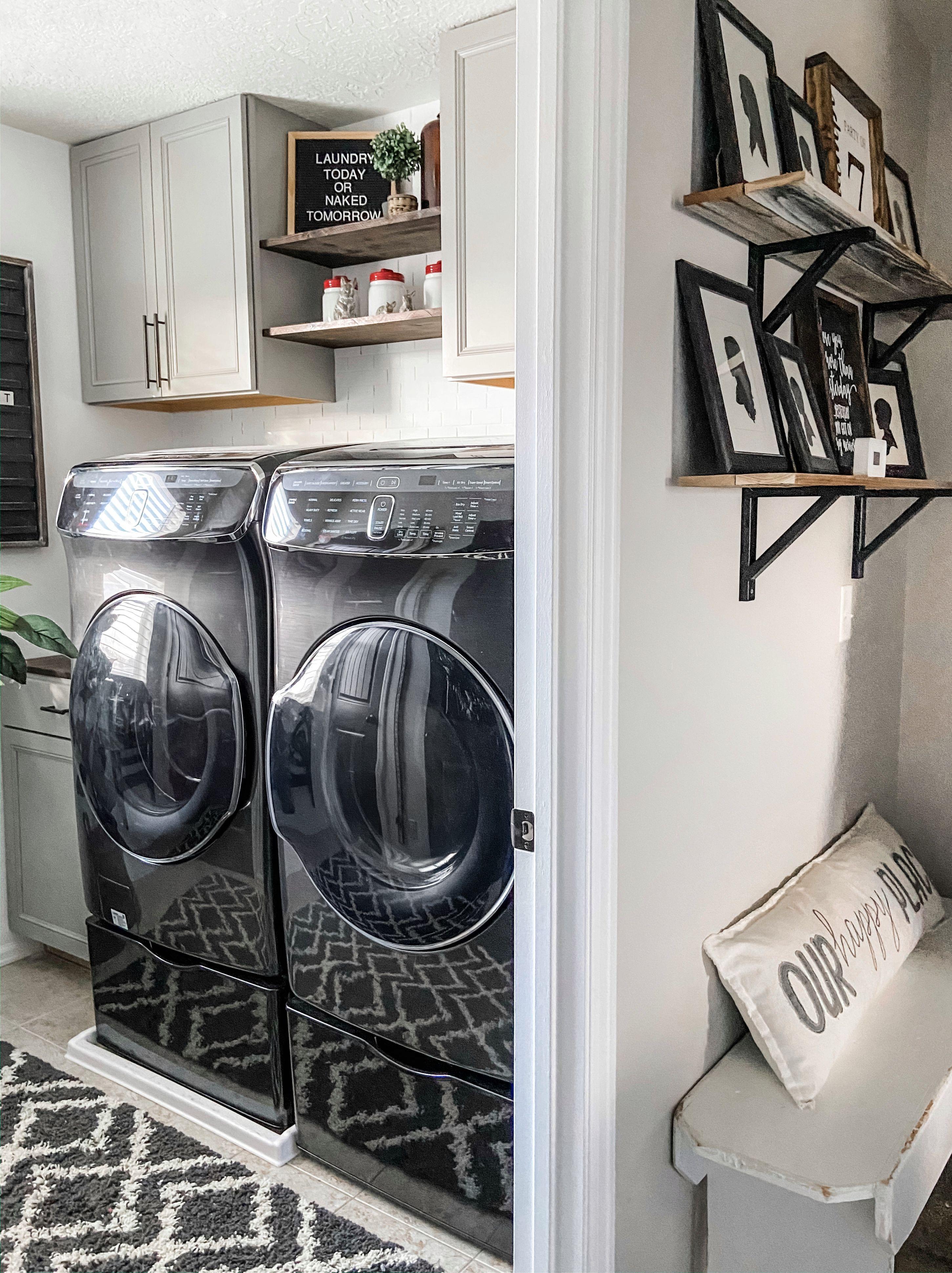 6 0 Cu Ft Flexwash Washer In Black Stainless Steel Washer Wv60m9900av A5 Samsung Us Laundry Room Design Laundry Room Storage Laundry Room Storage Shelves