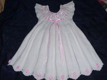 Vestidos para niña tejidos a crochet - Imagui   Tablero de Rocio ...