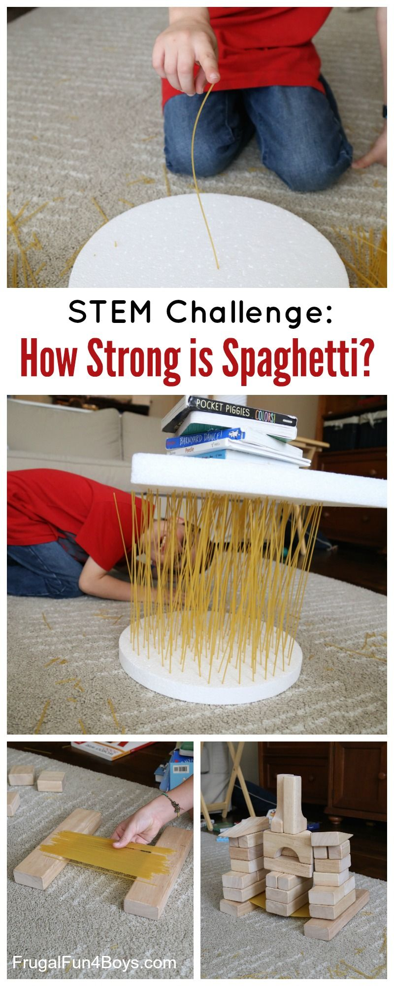 How Strong Is Spaghetti Stem Challenge For Kids Frugal Fun For