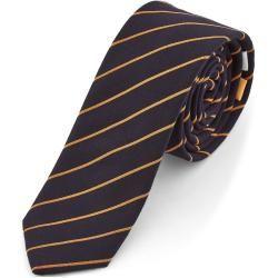 Photo of Navy Blue & Orange Bohemian Revolt Tie