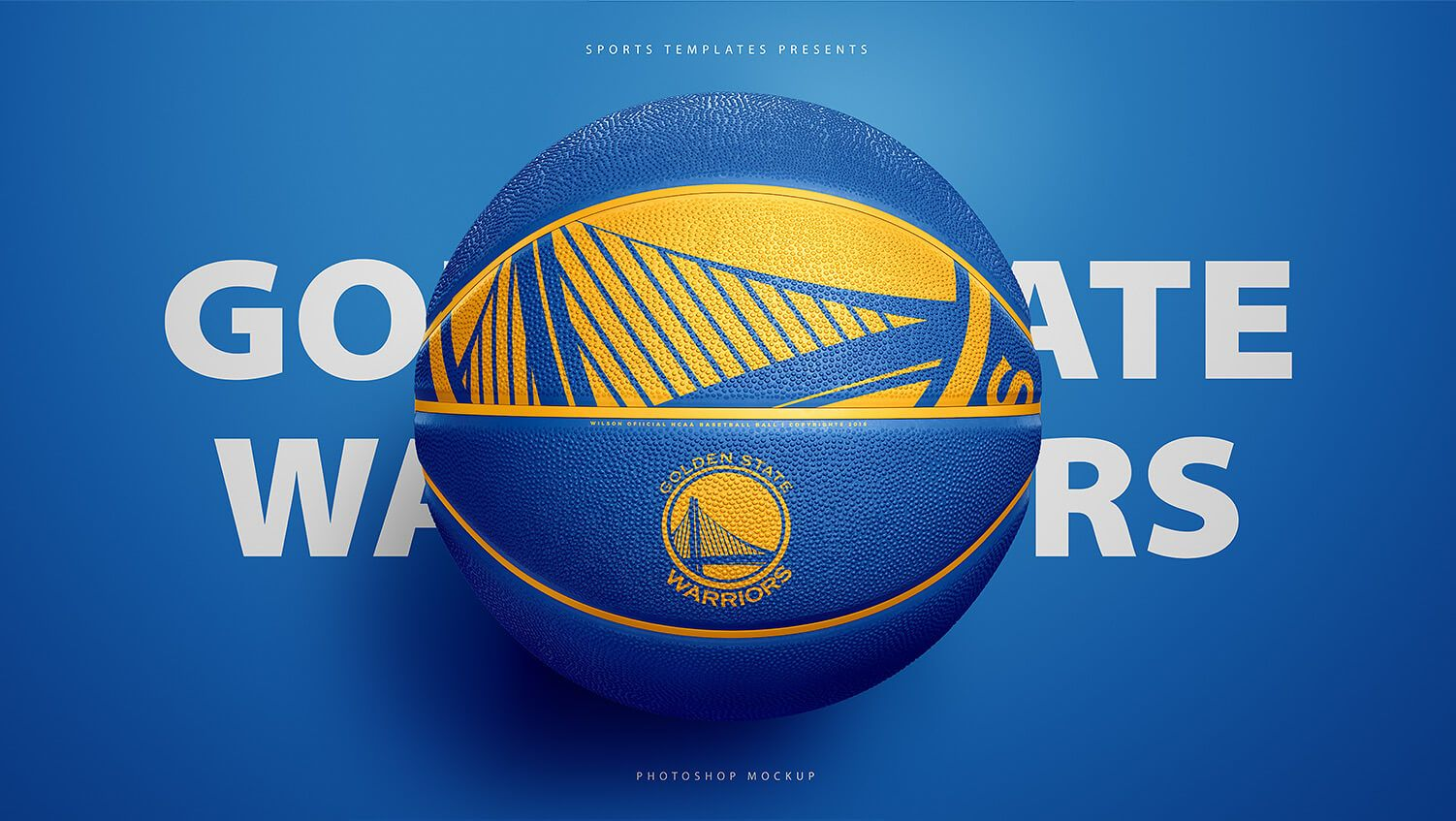 Download Golden State Warriors Basketball Ball Psd Photoshop Mockup Template Sports Templates Basketball Ball Templates