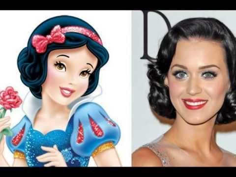 Disney Princesses Celebrity Look Alike - YouTube   cool ...