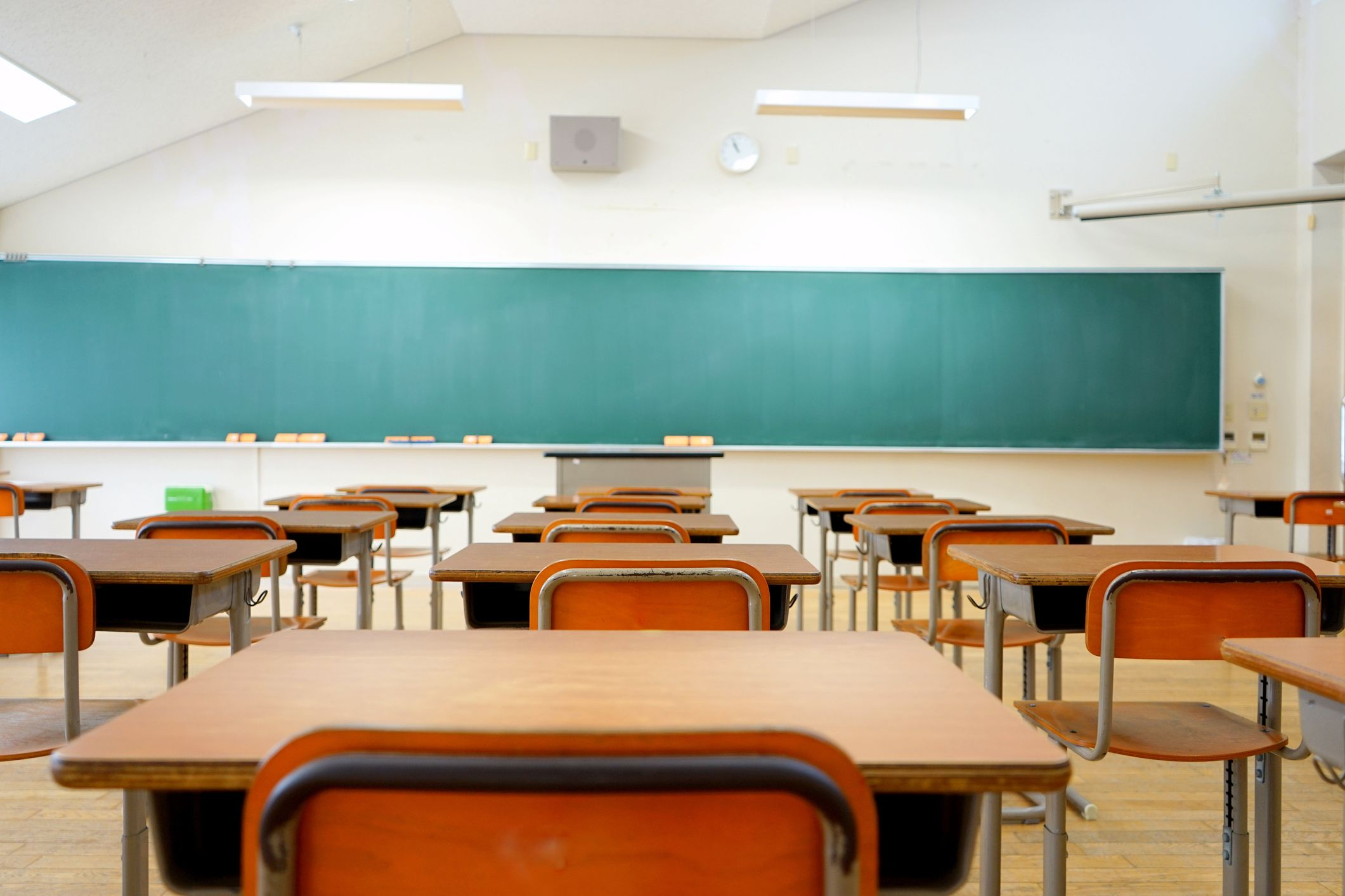 School Classroom In Japanese High School The Block Public