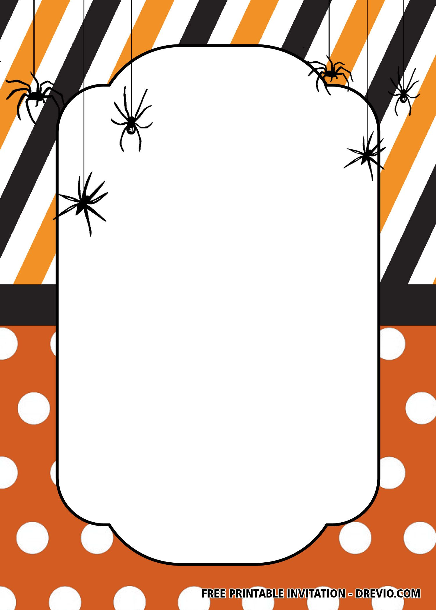 Free Printable Halloween Spider Party Invitation Templates Free Printable Halloween Invitations Free Halloween Invitations Printable Halloween Party Invitations
