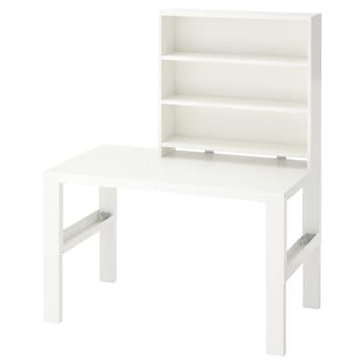 Brusali Corner Desk White 120x73 Cm Ikea In 2020 Desk Shelves Corner Workstation White Desks