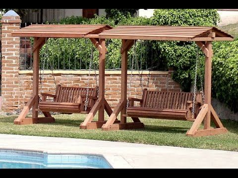 Pin By Shirley Marsh On Woodworking Wooden Garden Swing Patio