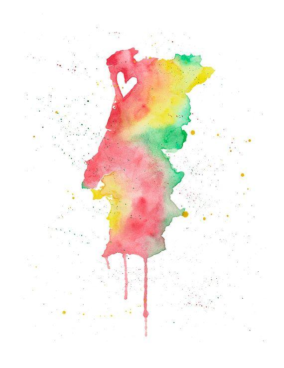 5 x 7 o 85 x 11 amor de Portugal por poppyandpinecone en Etsy