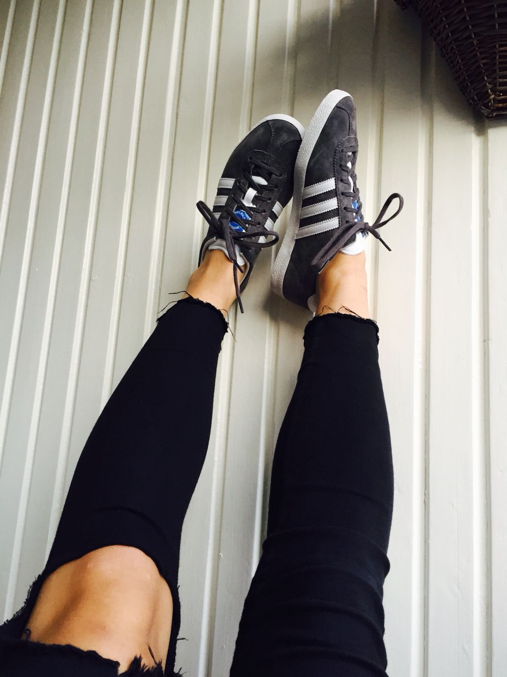 adidas grey gazelle sneakers