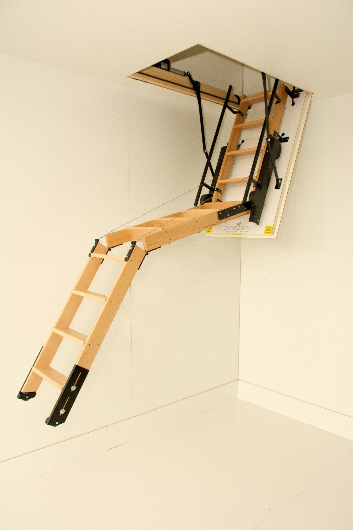 Best Skylark 3 Section Electric Timber Folding Loft Ladder 400 x 300