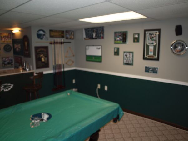 Small Man Cave Ideas My Eagles Man Cave Basement