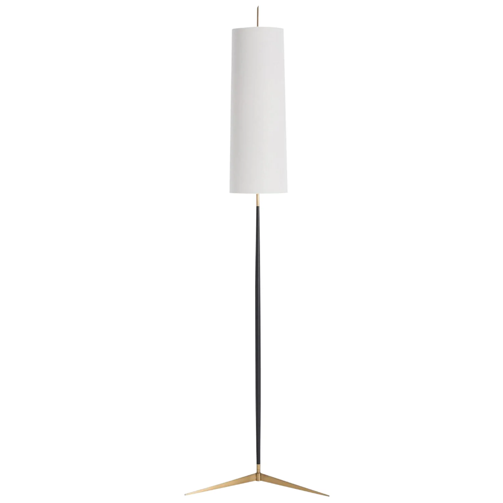 Arteriors Modern Bronze And Brass Floor Lamp With Cylinder Shade Floor Lamp Cylinder Floor Lamp Lamp