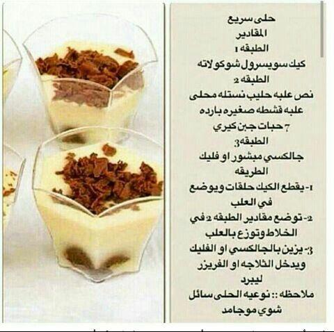 حلو سريع Food Videos Desserts Yummy Food Dessert Food Network Recipes