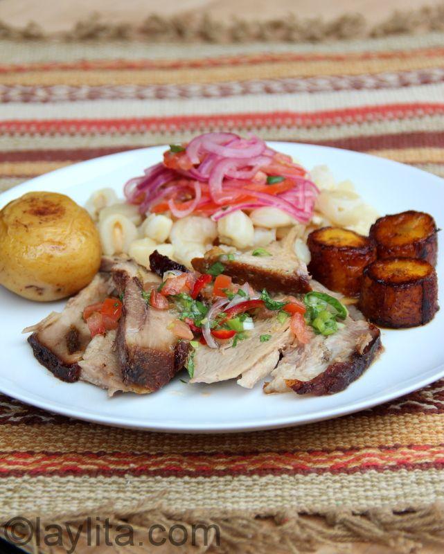 Receta Del Hornado Ecuatoriano Pork Recipes Ecuadorian Food Pork Dishes