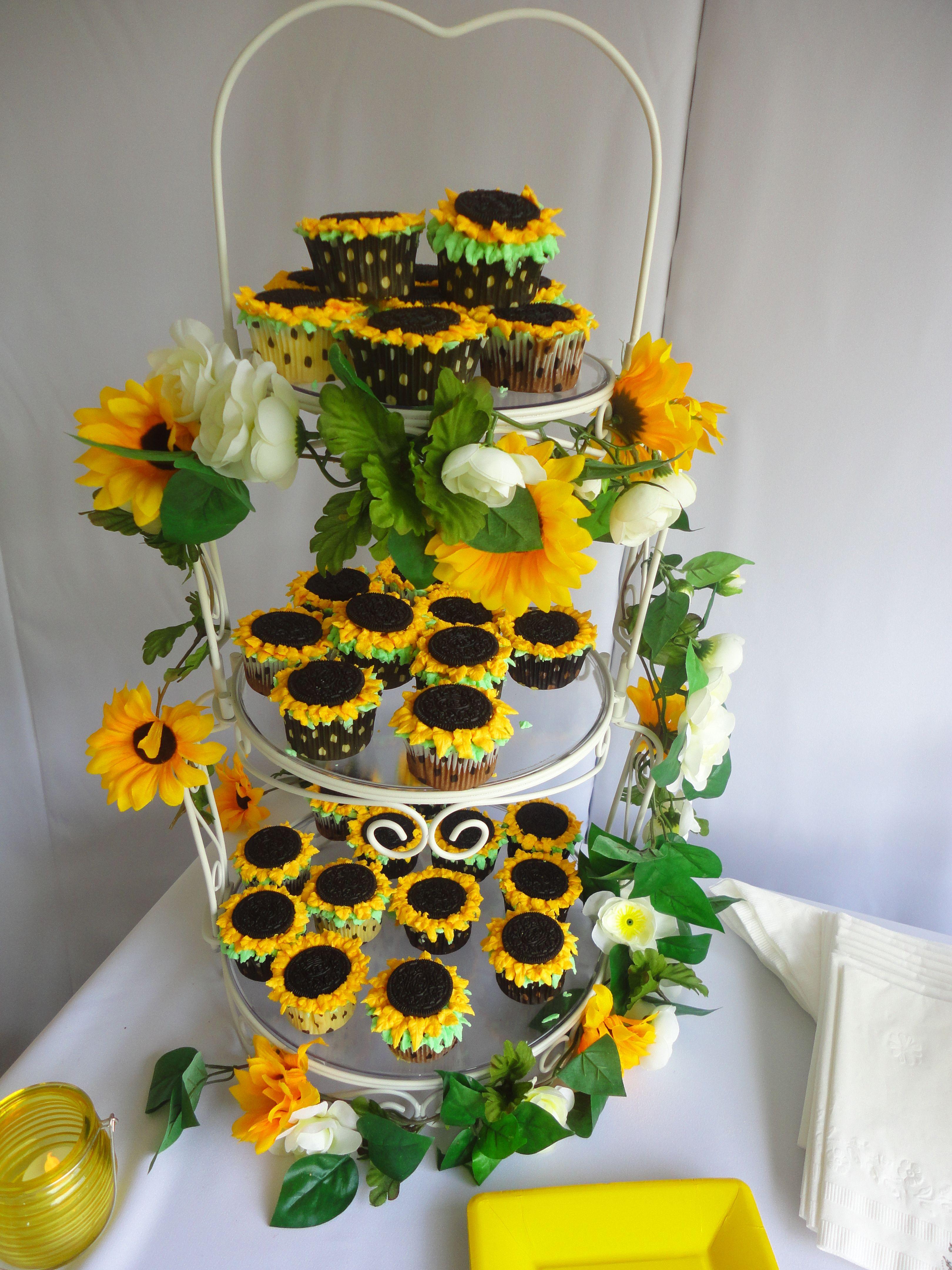 Sunflower cupcakes Katie s wedding