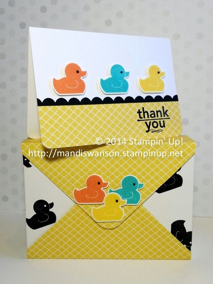 Thank You card set and matching card box made using