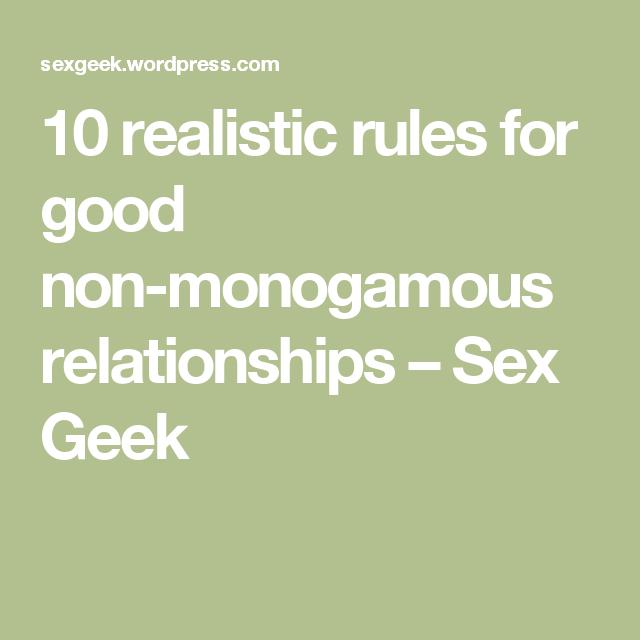 Ethical non monogamy dating advice