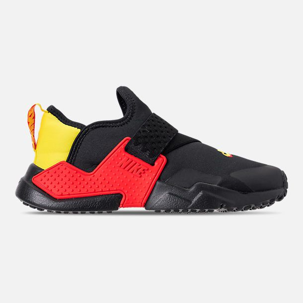 quality design 73ad5 b8c9e Right view of Boys' Big Kids' Nike Huarache Extreme SE JDI Casual Shoes in  Black/Bright Crimson/Dynamic Yellow
