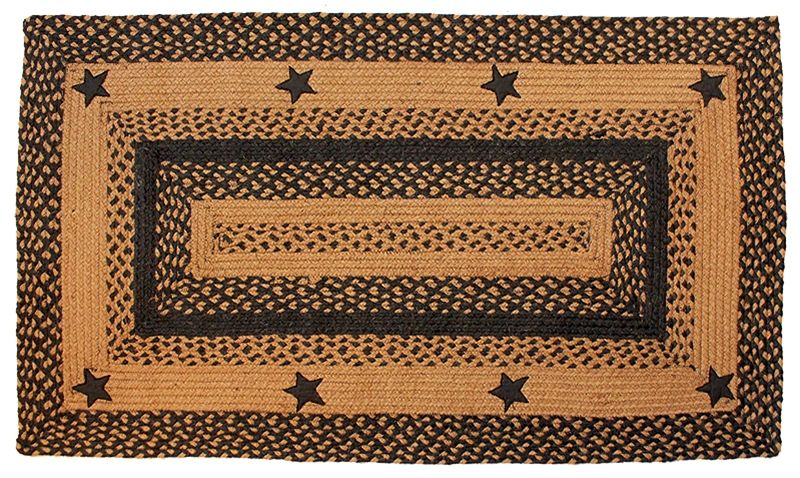 Primitive Country Kitchen Large Braided Heart Rug Black Tan For The Home Rugs Carpets Pinterest Kitchens And Tans
