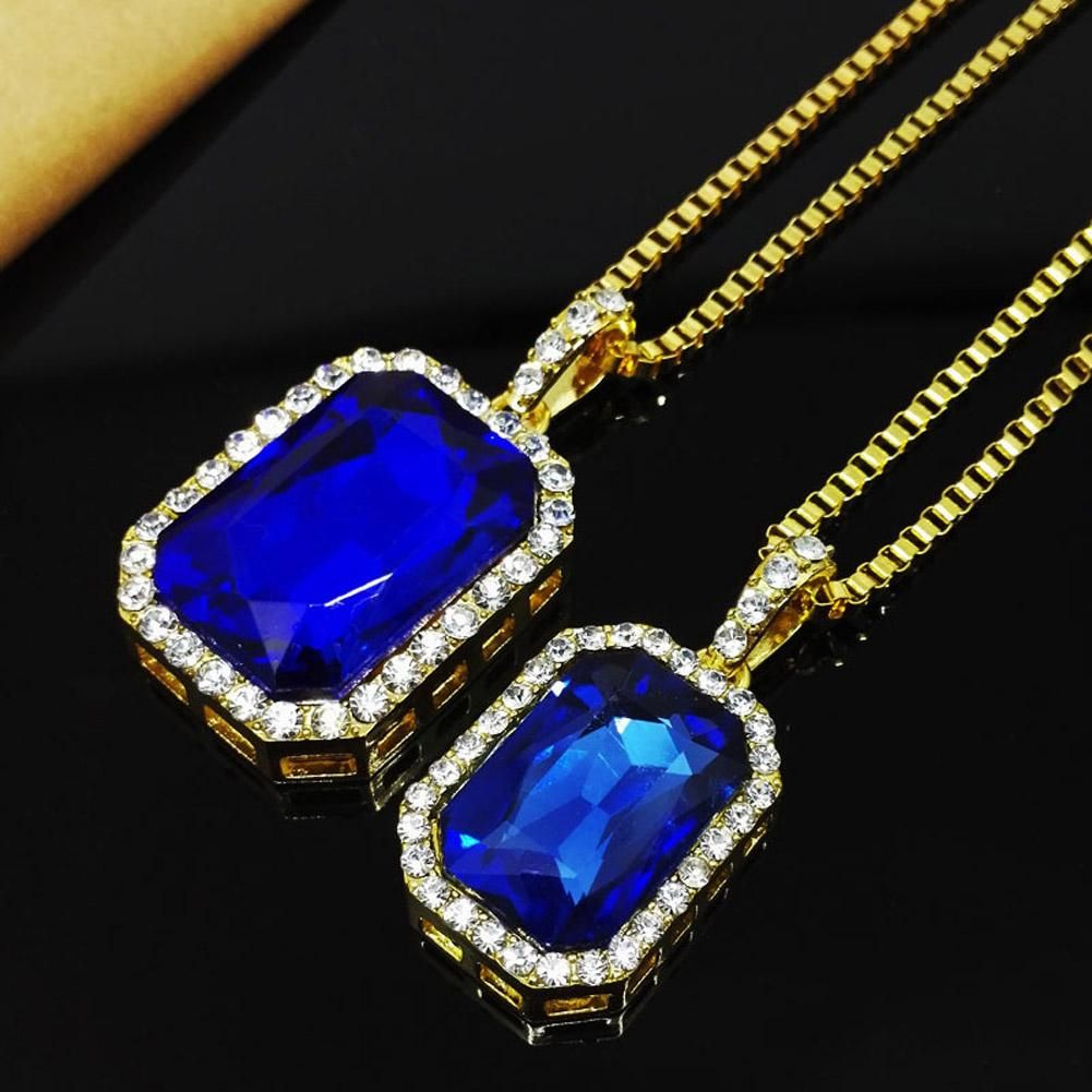 New mens bling pendant necklace