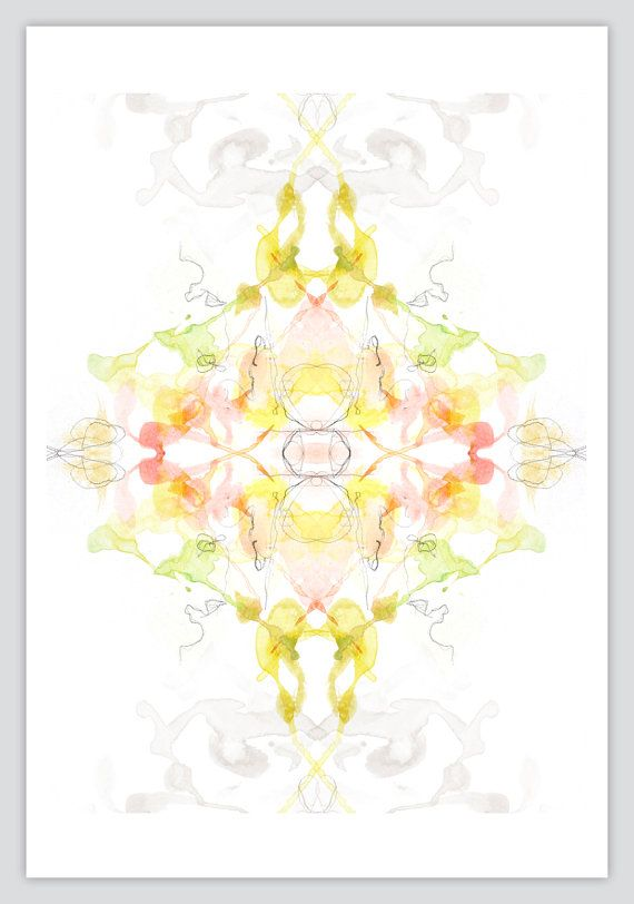 Watercolor Painting Abstract Kaleidoscope Art by OBSESSIVISION ...