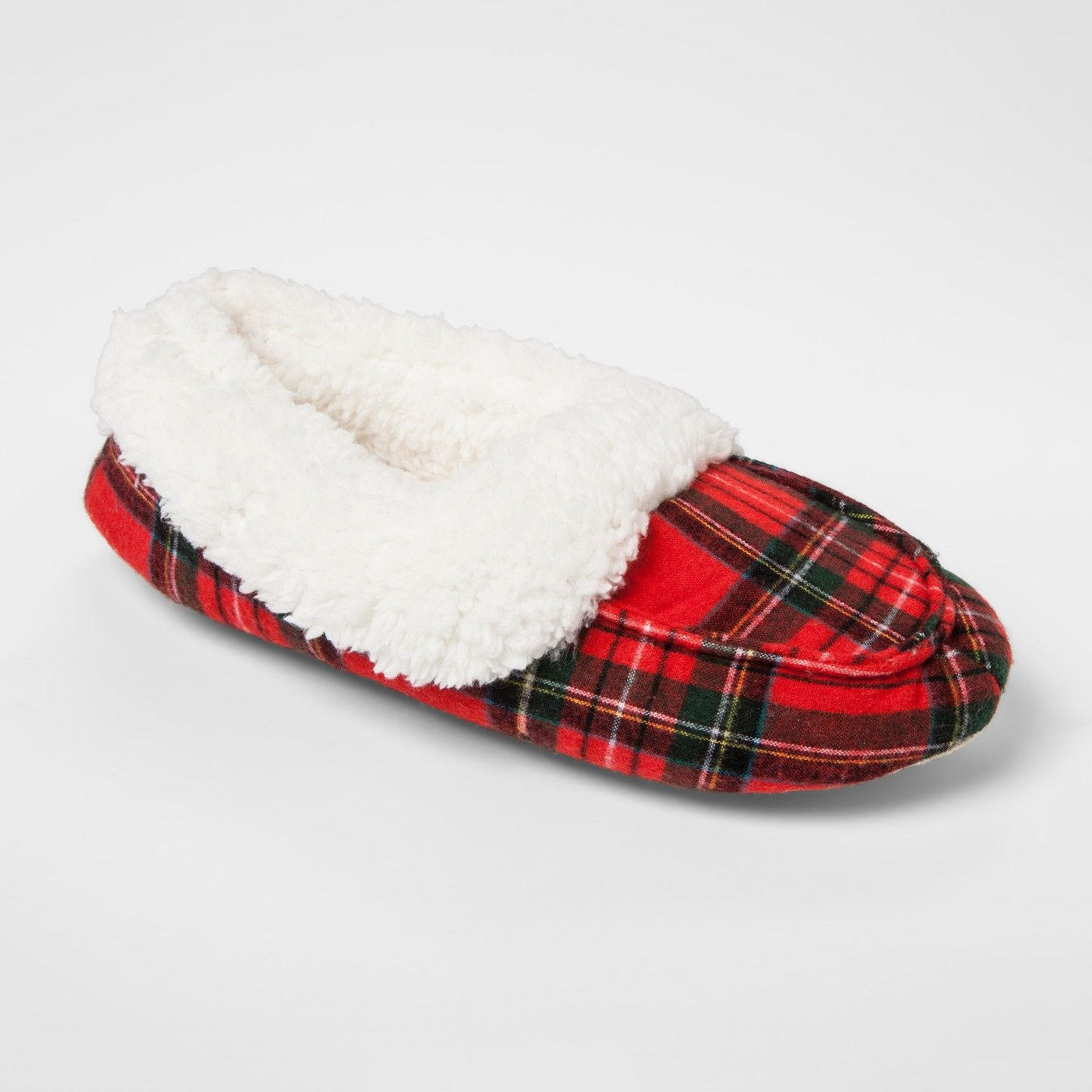 Holiday Plaid Moccasin Slippers From Wondershop Give Your