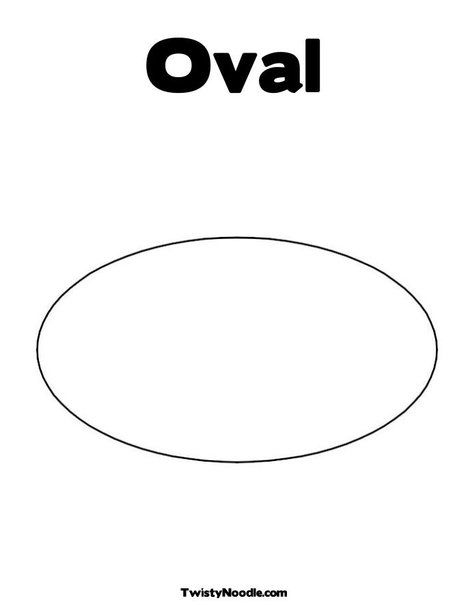 oval coloring page from twistynoodle com preschool pinterest