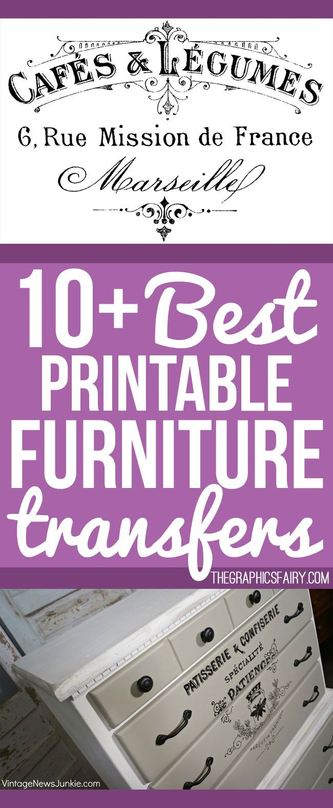 photo regarding Printable Transfers referred to as 10+ Suitable Printable Transfers for Home furniture - No cost