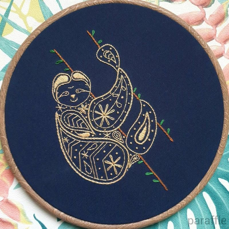 Photo of Sloth Embroidery Pattern