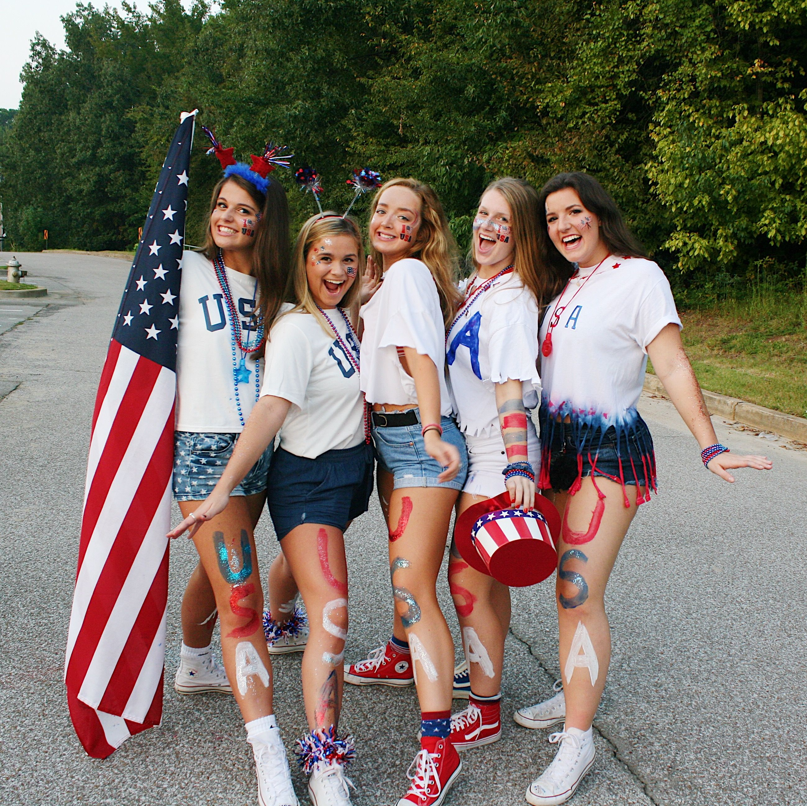 USA night high school football game theme Football