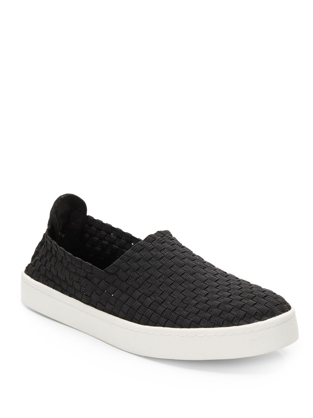 a6d56f2853a Steve Madden - Black Exx Woven Slip-on Sneakers