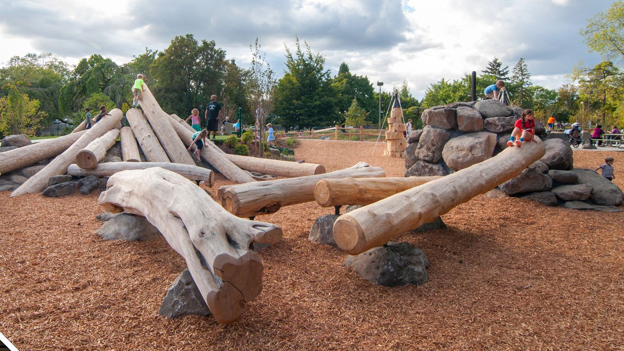 Landscape Timbers Portland Or : Things about natural play features like jumping stones and timber
