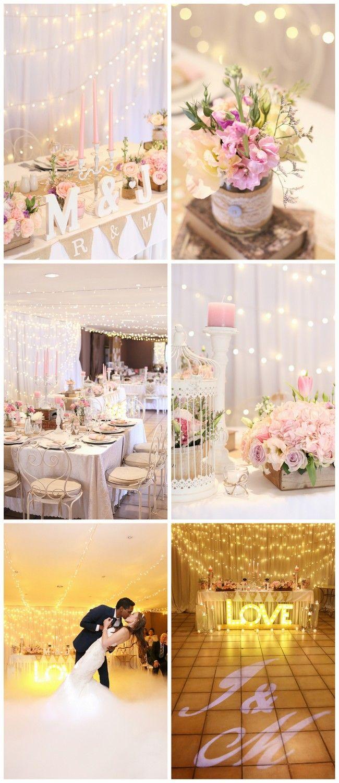 Fairy light wedding decoration ideas  A Magical Enchanting Fairy Lights Wedding  wedding ideas