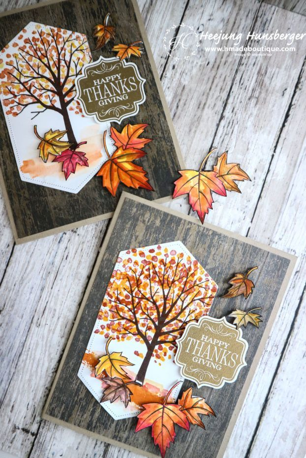 Sheltering Tree Thanks Giving Card – H MADE BOUTIQUE #scrapbook