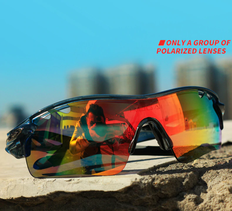 Outdoor Polarized Sunglasses Windproof Cycling Glasses Unisex Myopia Frame