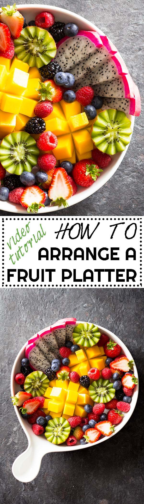 Ever wondered how to arrange a fruit platter as pretty as the ones in restaurants & hotels? Here is a video tutorial and full instructions! via @greenhealthycoo