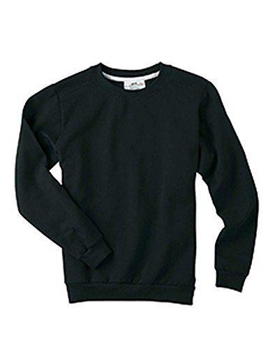 Anvil Ladies Ringspun Crewneck Sweatshirt BLACK L Color