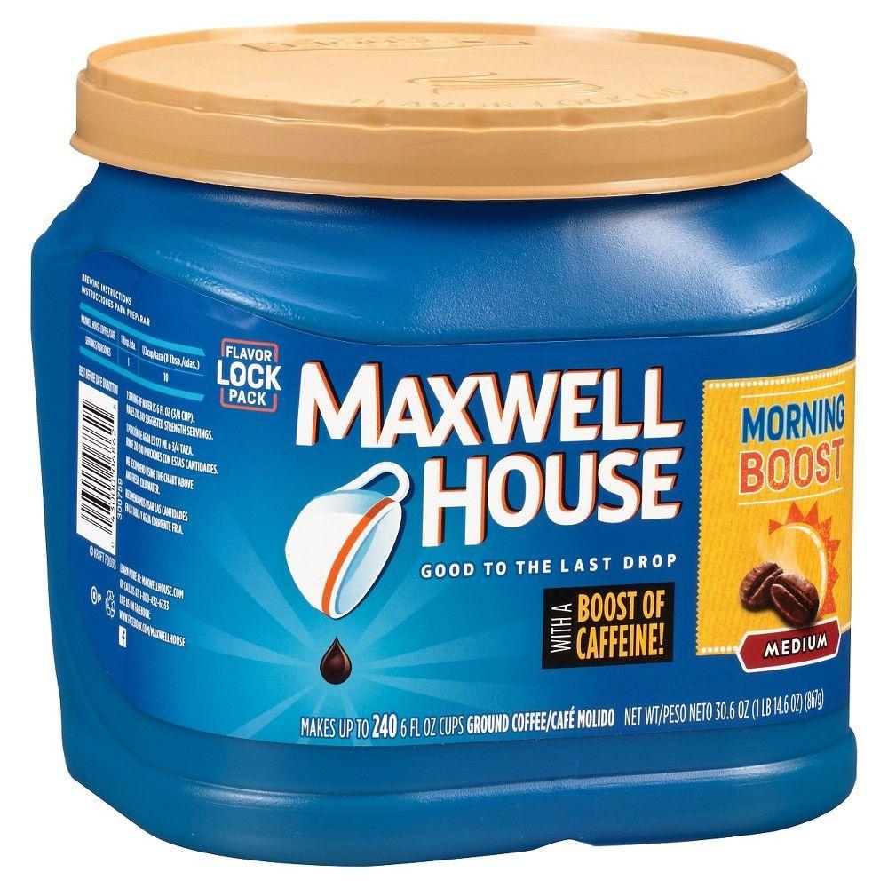 Maxwell house morning boost medium roast ground coffee