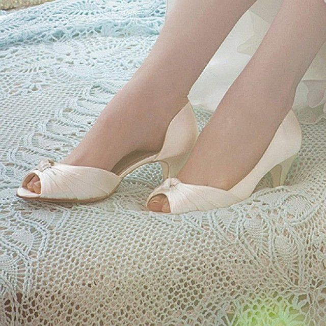 Cheryl Rainbow Club Kitten heel Wedding Shoe