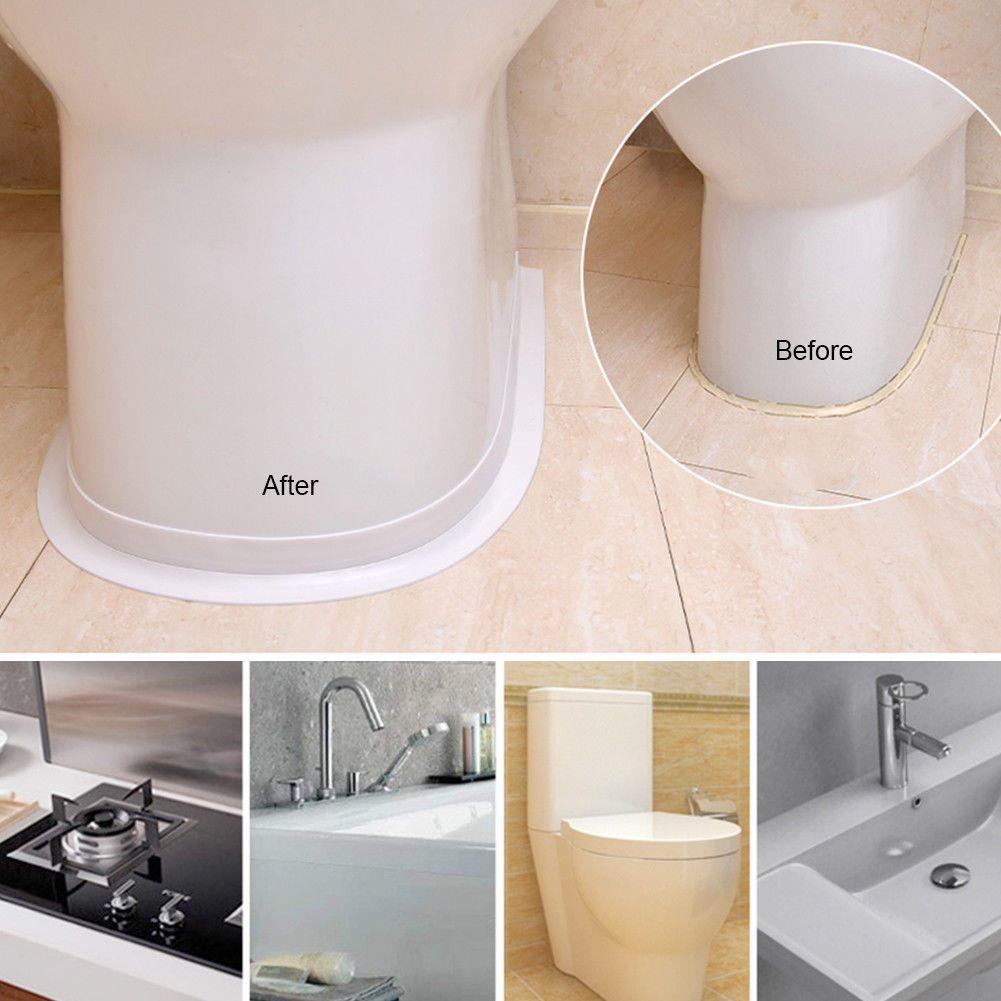 5m X 22mm Sealing Strip Bath Shower Cistern Basin Edge Sealant Tape Ebay Diy Bathroom Makeover Cheap Bathroom Makeover Bathtub Walls [ 1001 x 1001 Pixel ]