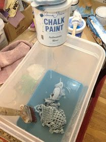 The Empty Nest: ~ How to dye fabric with Chalk Paint® decorative paints by Annie Sloan ~
