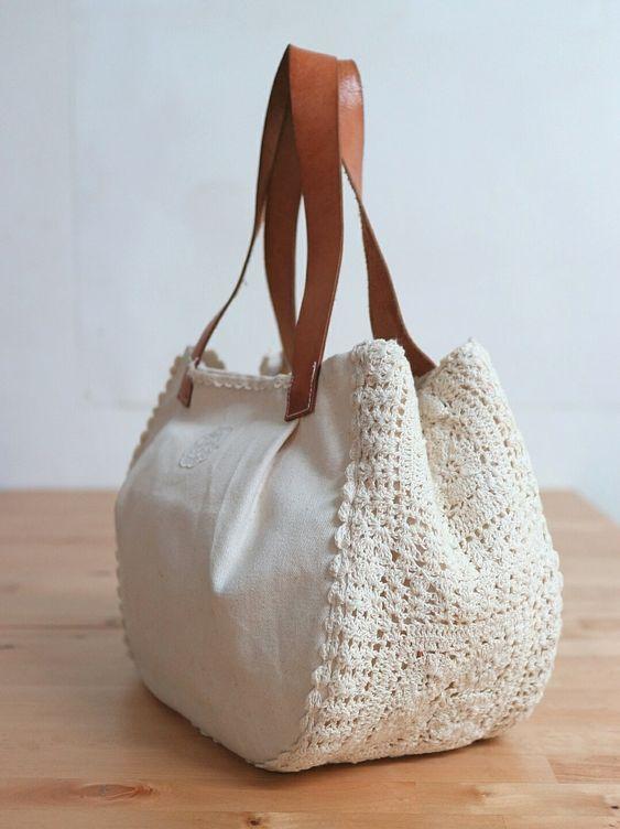 Unique idea to repurpose vintage crocheted doilies etc bolsas y