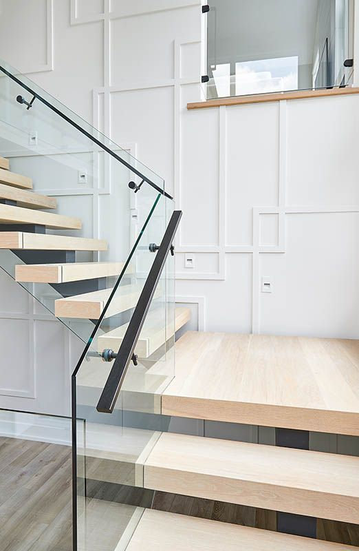 BESIDE THE BROOK | Glass railing stairs, House design ...