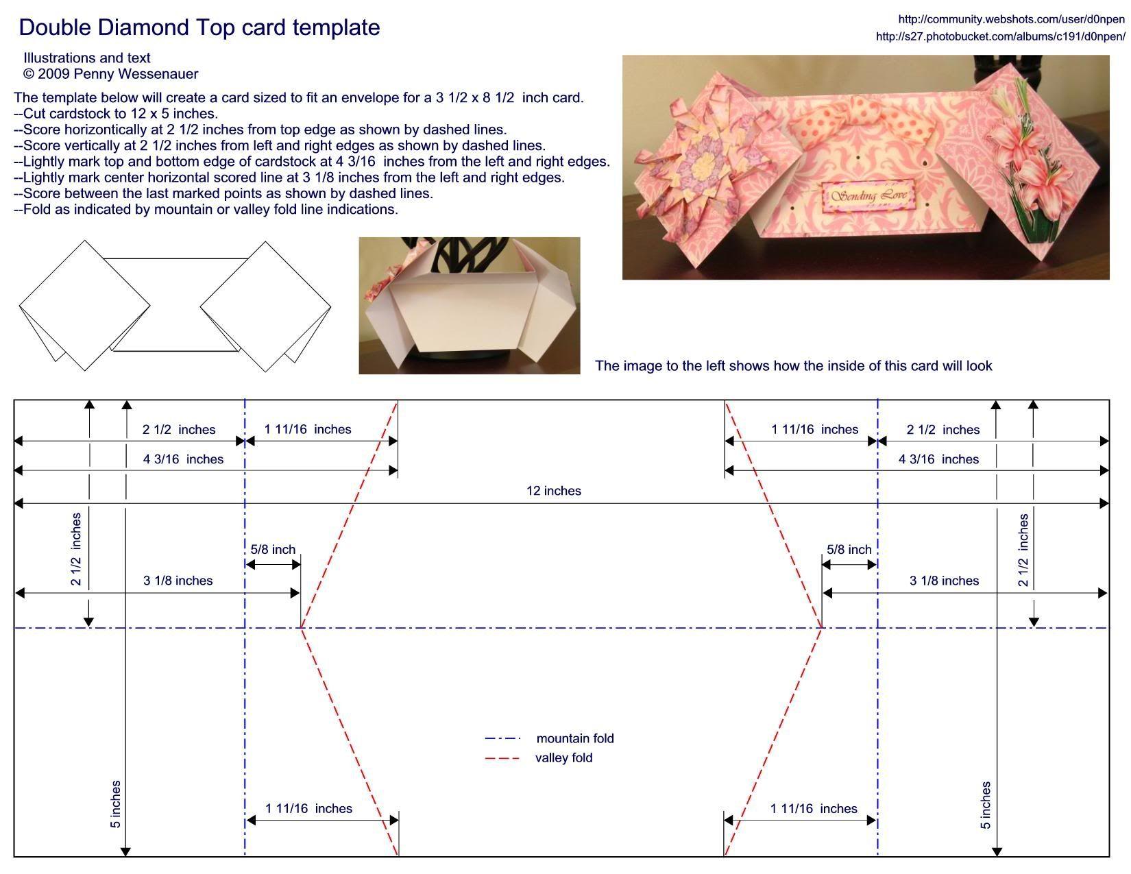 Card Templates Slideshow By D0npen Photobucket Card Templates Step Cards Side Step Card