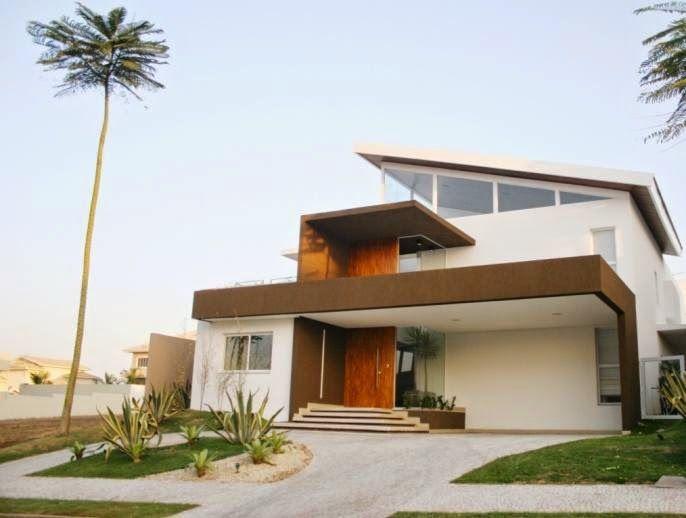 Decor salteado blog de decora o e arquitetura 20 Fachadas de entradas de casas modernas