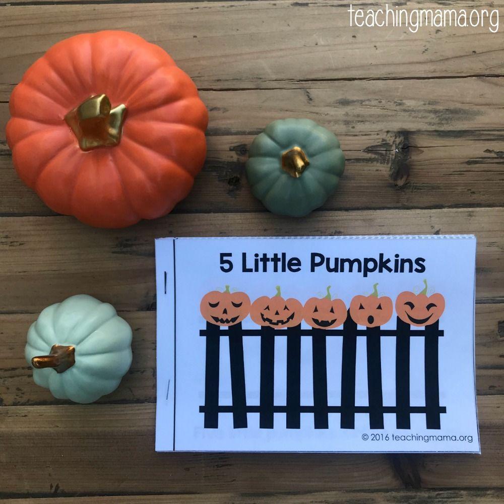 Five Little Pumpkins Free Rhyme Booklet Five Little Pumpkins Pumpkins Preschool Pumpkin Activities