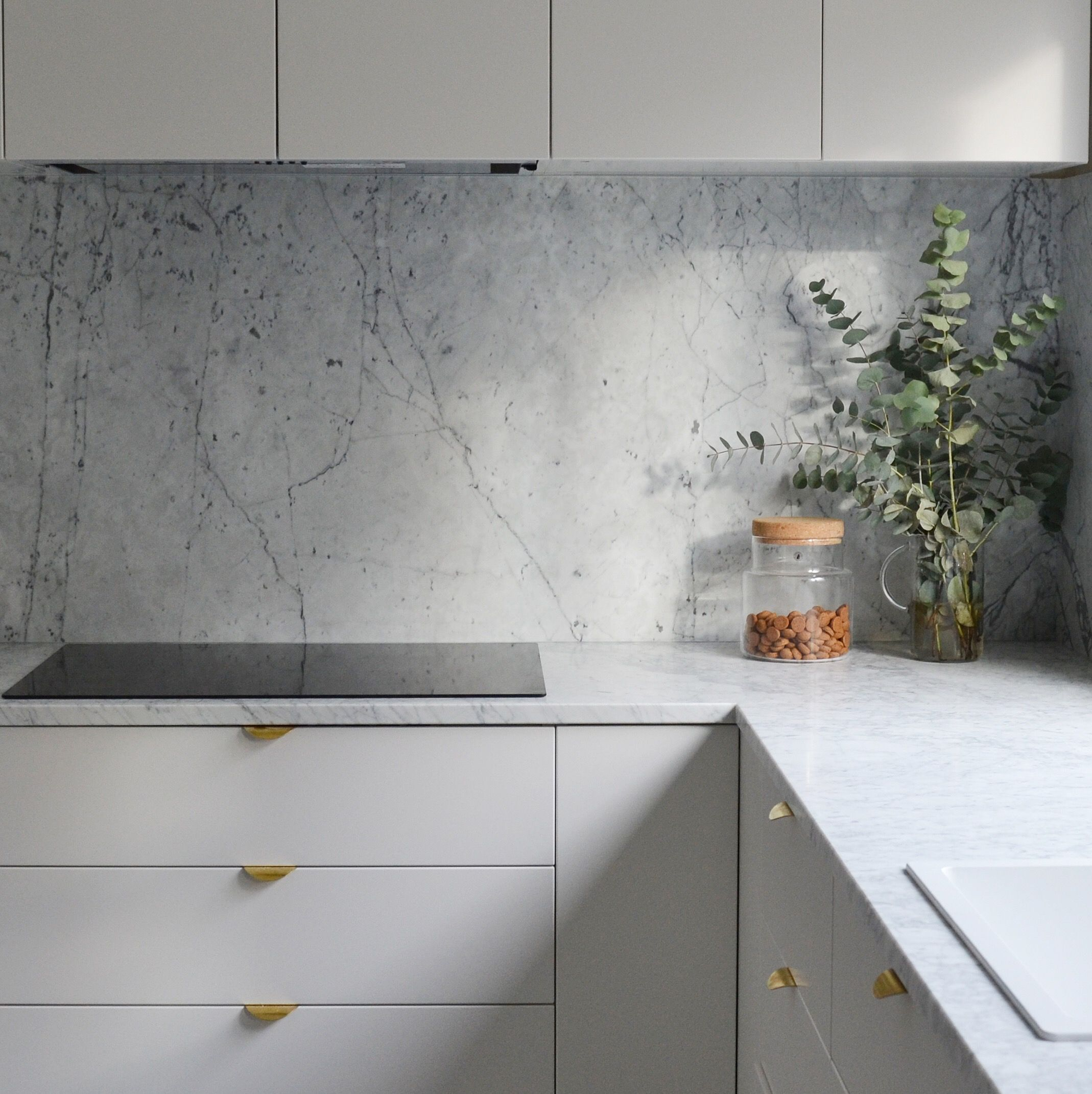 Image Result For Ikea Metod Veddinge Grey With Images Kitchen Decor Kitchen Marble Home Kitchens