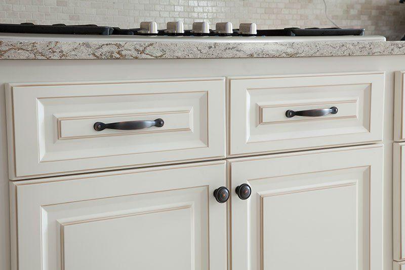 Bronze Brass Black Cabinet Hardware Demystified Antique White Kitchen Cabinets Black Cabinet Hardware Antique White Kitchen